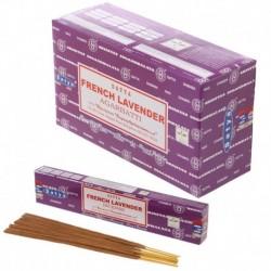 Bâtons d'encens Satya -Lavande ~ Lot de 12 ~