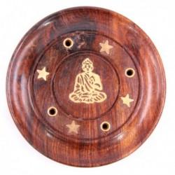 Attrape-cendres bouddha, bois de sheesham
