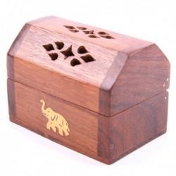 Mini Porte-encens Eléphant, bois de sheesham