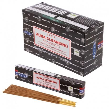 Bâtons d'encens Satya - Aura Cleansing ~ Lot de 12 ~