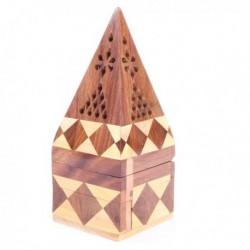 Porte-encens pyramide, bois de Sheesham