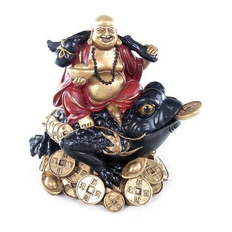 Bouddha sur un crapaud