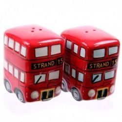 Salière et poivrière Bus rouge