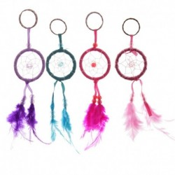 Porte-clés mini attrape-rêves à plumes
