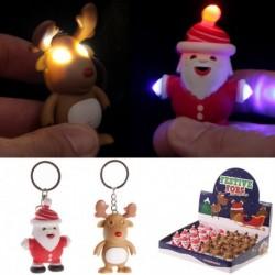 Porte-clefs de Noël - Son et lumière
