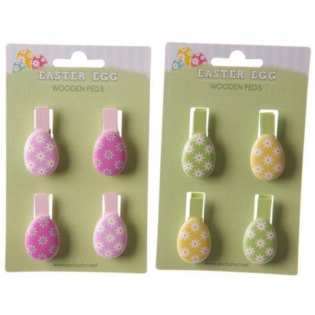 Pinces à linge - Oeufs de Pâques - Pack de 4