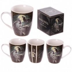 Mug en porcelaine tendre - Le Chant du loup par Lisa Parker