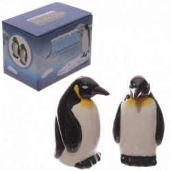 Lot salière et poivrière en céramique - Pingouins
