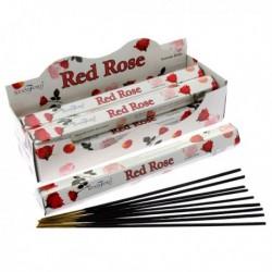 Encens Stamford Premium Hex - Rose Rouge ~ Lot de 6 ~