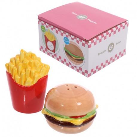 Sallière et poivrière Fast food - Burger et frites