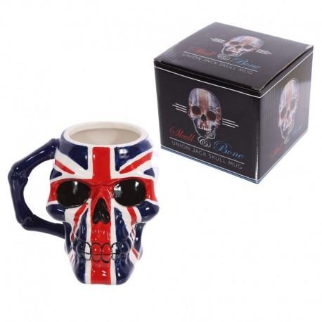 Mug Crâne et drapeau Britannique