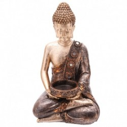 Statue bouddha thaï porte bougie