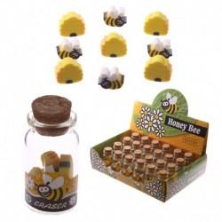 Pot de mini gommes - Design abeilles