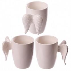 Mug en céramique blanc - Anse ailes d'ange blanches