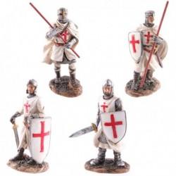 Chevalier Croisé prêt à la bataille, 16cm