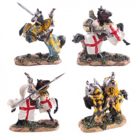 Chevalier à cheval prêt à la bataille, 10cm