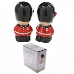 Ensemble salière et poivrière en céramique - Gardes anglais