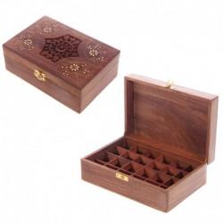 Boîte en bois de Sheesham pour huiles essentielles - D2 (24 flacons)