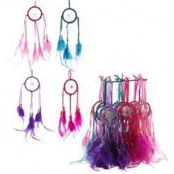 Mini attrape-rêves plumes de couleur