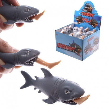 Gadget à presser - Requin et jambe