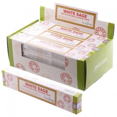 Bâtonnets d'encens Stamford Masala - White Sage 37261 ~ Lot de 12 ~