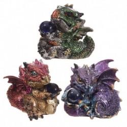 Bébé Dragon avec boule de cristal