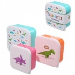 Lot de trois boîtes repas - Design Dinosaure