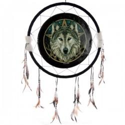 Attrape-rêves motif Tête de loup, 60cm