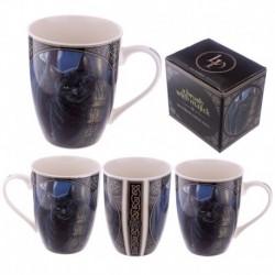 Mug en porcelaine tendre - Chat avec balai magique