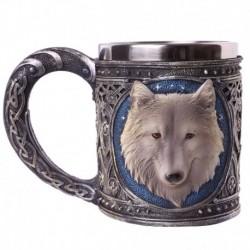 Chope décorative motif loup