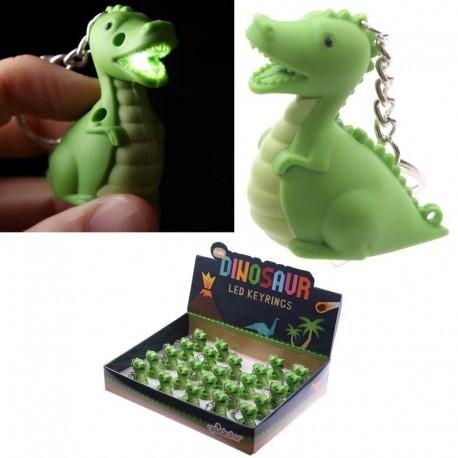 Porte-clés à LED - Dinosaure