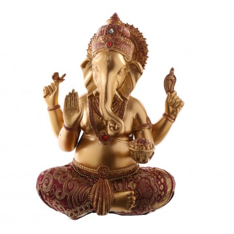 Figurine Ganesh - Rouge et Or