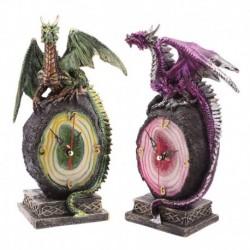 Horloge dragon et géode