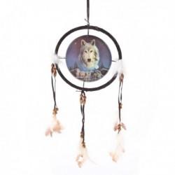 Attrape Rêves Loup, Loup veillant sur une Meute , Petit modèle