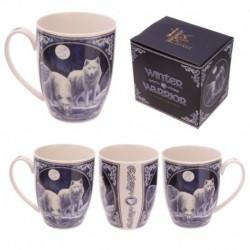 Mug porcelaine tendre - Loup Guerrier de l'hiver par Lisa Parker
