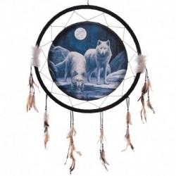 Attrape-rêves 60cm -Loups guerriers de l'hiver par Lisa Parker