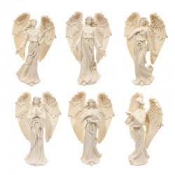 Figurine Ange Crème Debout, 17cm