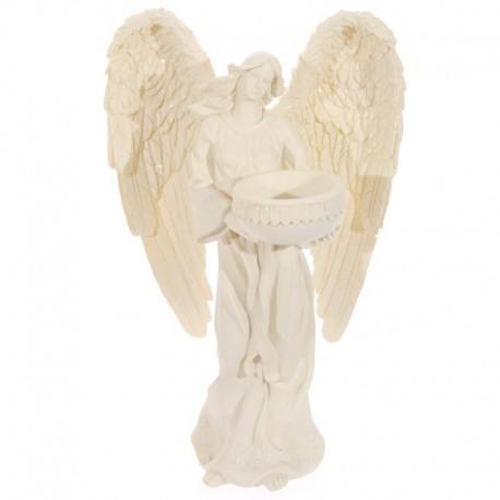 Figurine Ange Crème Porte-bougie, 23cm
