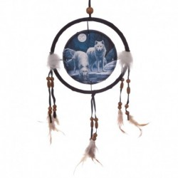 Attrape-rêves 16cm - Loups guerriers de l'hiver par Lisa Parker