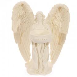 Porte-Bougie Figurine Ange à Genoux, Crème