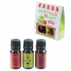 Lot de 3 Huiles Parfumées Personnages Fruit Eden - Fruitées