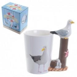 Mug à Anse Décorée - Oiseau...