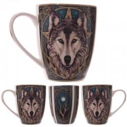 Mug en Porcelaine Tête de Loup par Lisa Parker
