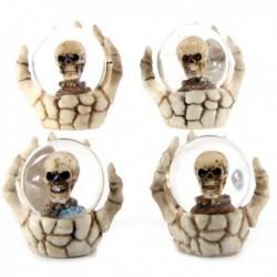 Boule à eau Crâne dans la main d'un squelette ~ Lot de 4 ~