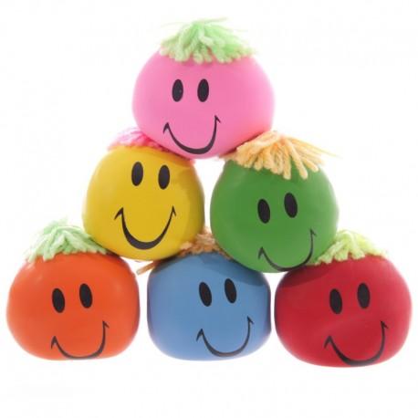 Tête anti-stress colorée