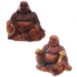 Mini Bouddha Porte-bonheur à collectionner - Effet Boisé