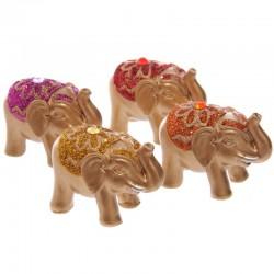 Mini Éléphant Porte-bonheur - Pailleté Métallique