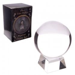 Boule de cristal avec support et boite cadeau - 10 cm