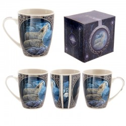 Mug Couple Loups par Lisa Parker