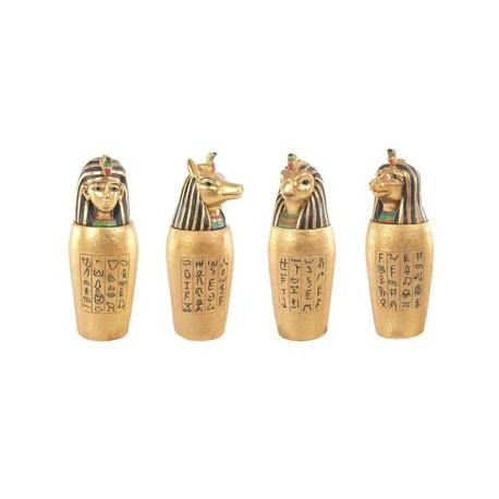 Vase Canope Égyptien ~ Lot de 4 ~